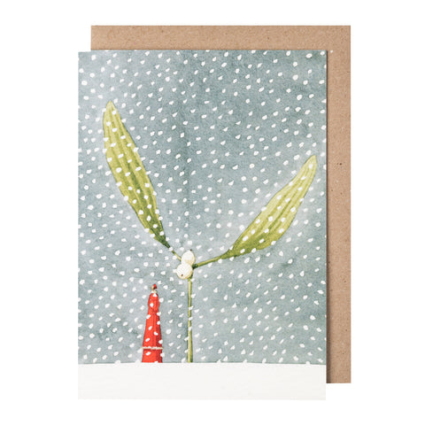 Greetings Card - Christmas 'Mistle Snow'