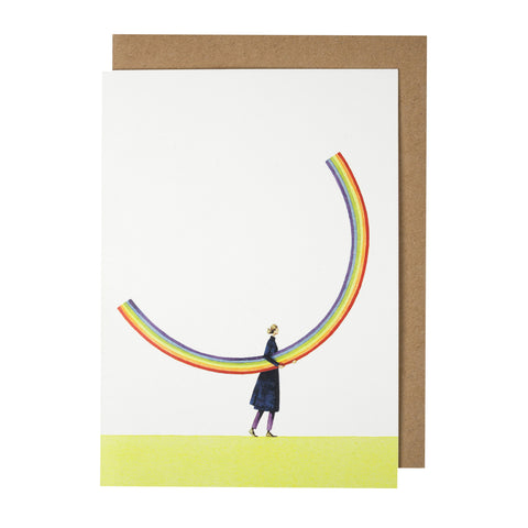 Greetings Card - Rainbow Girl