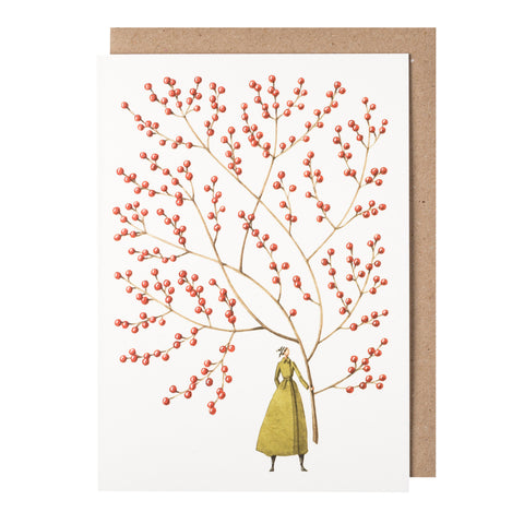 Greetings Card - Christmas Red Berries