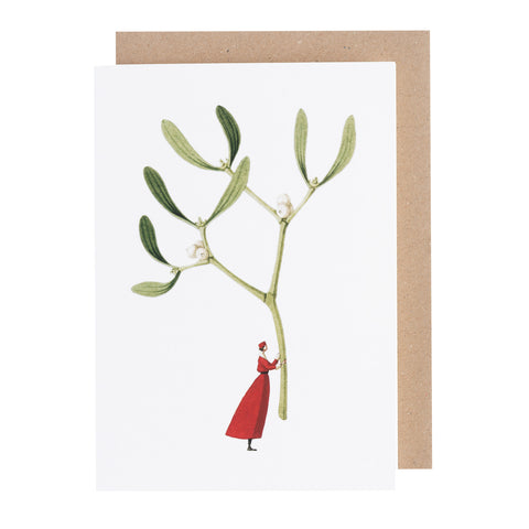 Greetings Card - Christmas Mistletoe