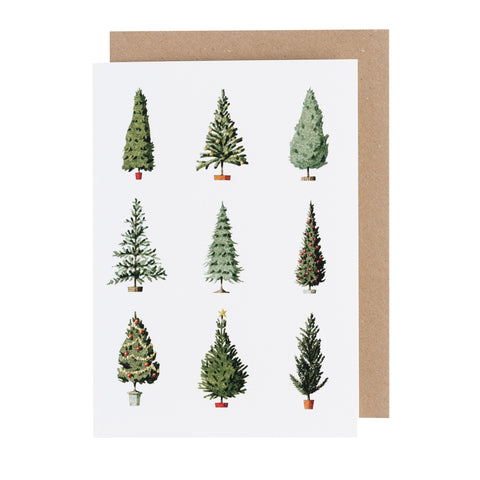 Greetings Card - Christmas Trees