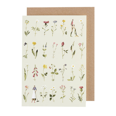 Greetings Card - Wild Flowers