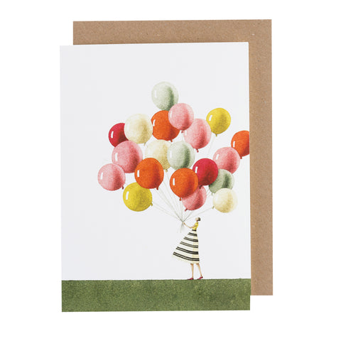 Greetings Card - Balloons