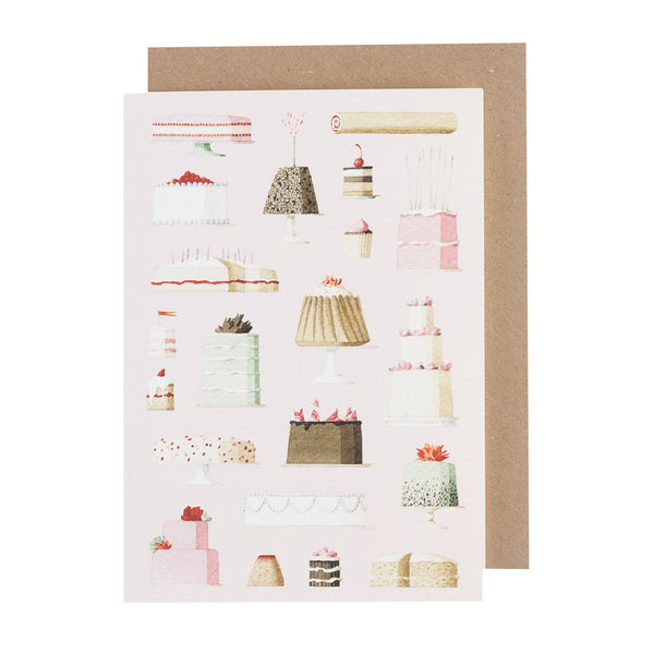 Greetings Card - Cakes