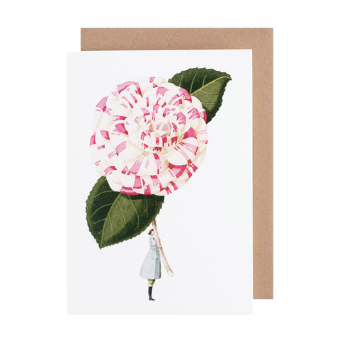 Greetings Card - Camelia