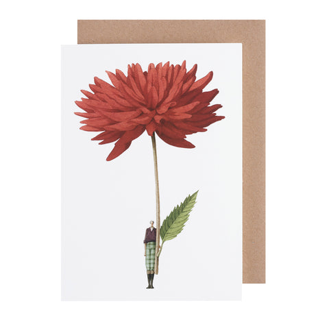 Greetings Card - Dahlia