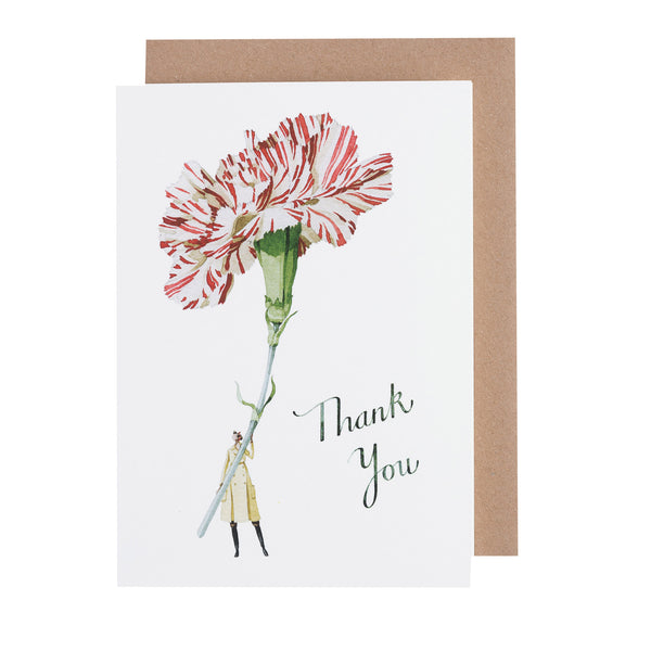 Greetings Card NEW - Thank you Carnation