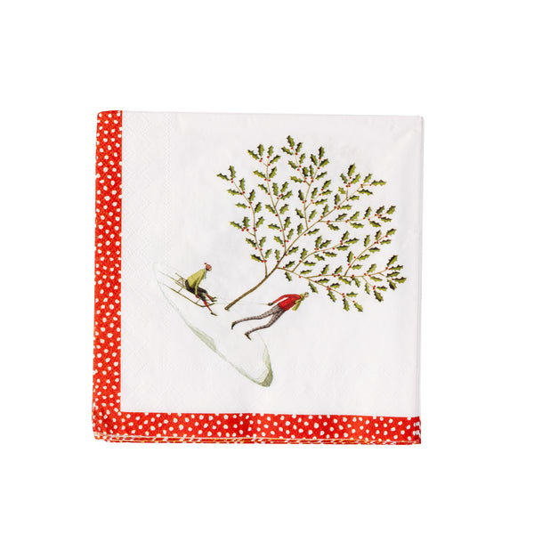 Happy Christmas - Winter Scenes napkins