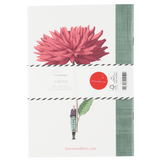In Bloom - A5 Notebook Camellia and Dahlia