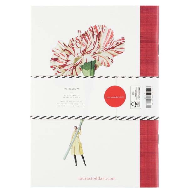 In Bloom notebook - Pansy and Carnation