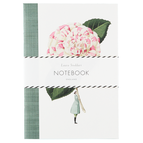 In Bloom A5 Notebook - Camellia and Dahlia