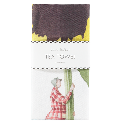 In Bloom Tea Towel - Pansy