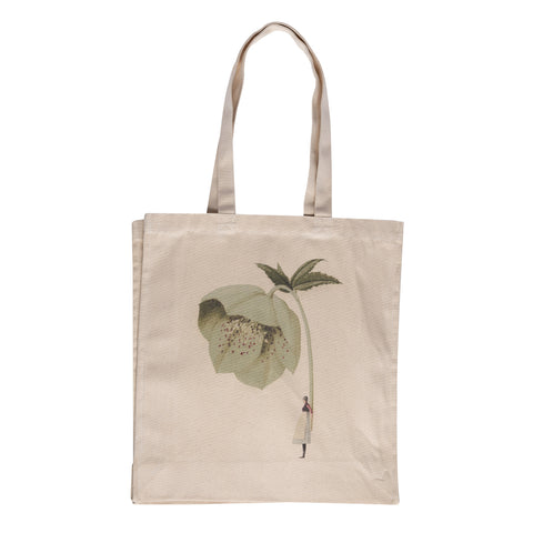 In Bloom - Hellebore Heavy Weight Cotton Shopper