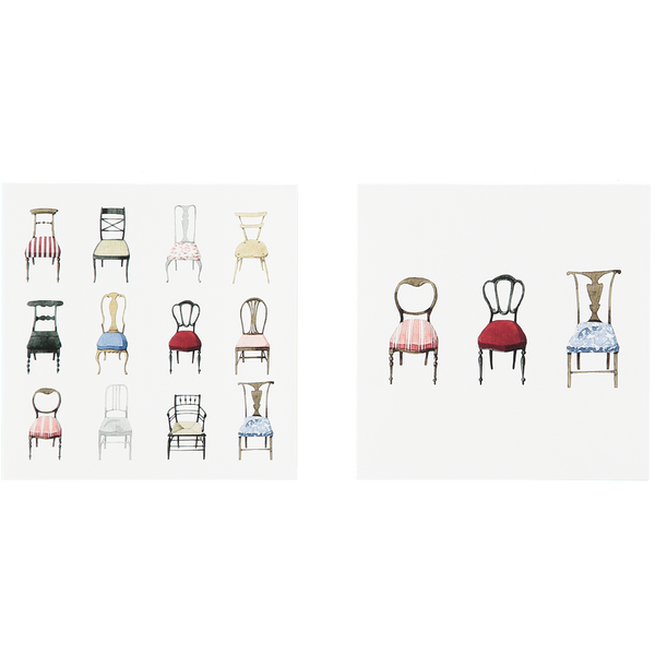 Musical Chairs Notecards