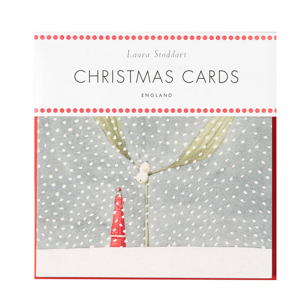 Christmas Cards eight card pack - Mistle Snow