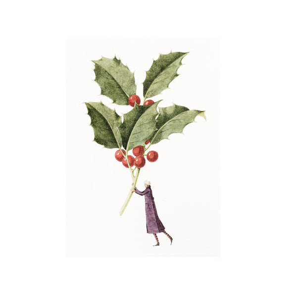 Christmas Cards ten pack - Holly and Mistletoe