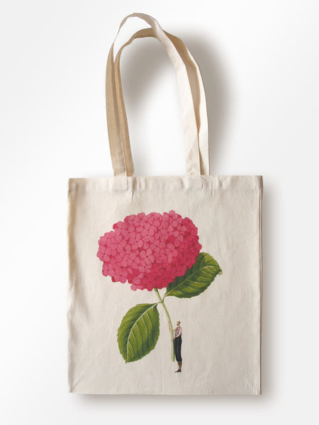 In Bloom - Pink Hydrangea Lightweight Cotton Tote