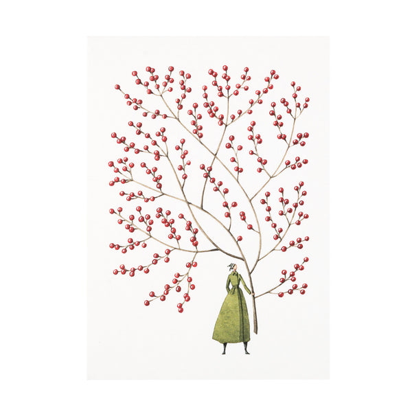 Christmas Cards ten pack - Red Berries