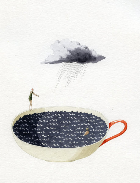 "Limited edition ""Storm in a Tea Cup"" mounted print"