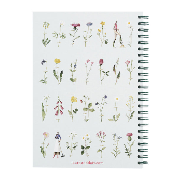 Wild Flowers - A5 Wiro Notebook