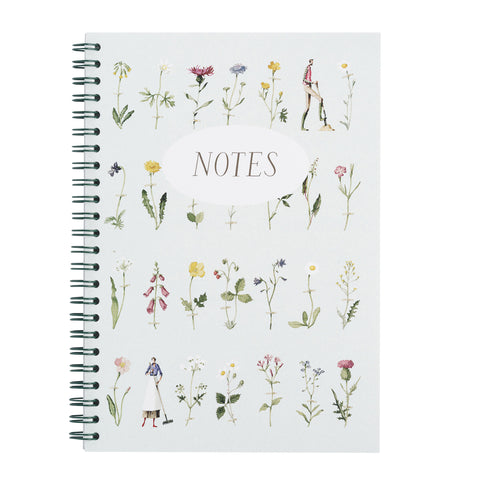Wild Flowers Hardback Wiro Notebook