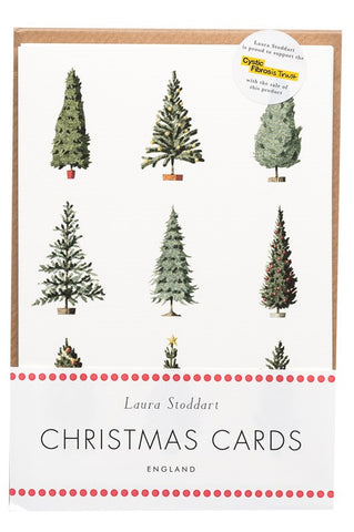 Christmas Cards ten pack - Christmas Trees