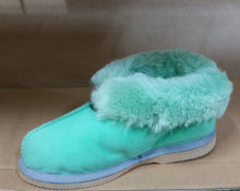 Load image into Gallery viewer, Sophie Slippers. Pure sheepskin wool. Fashion Colours Orange & Forest Green - ON SALE
