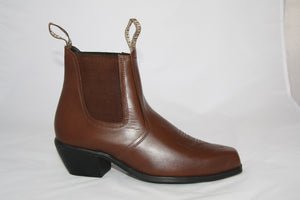 TEXAS TAN- Chisel toe  Ankle boots