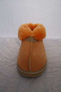 Sophie Slippers. Pure sheepskin wool. Fashion Colours Orange & Forest Green - ON SALE