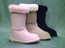 Load image into Gallery viewer, Style: John - Calf length UGG Boot. Natural & Black. Unisex sizes