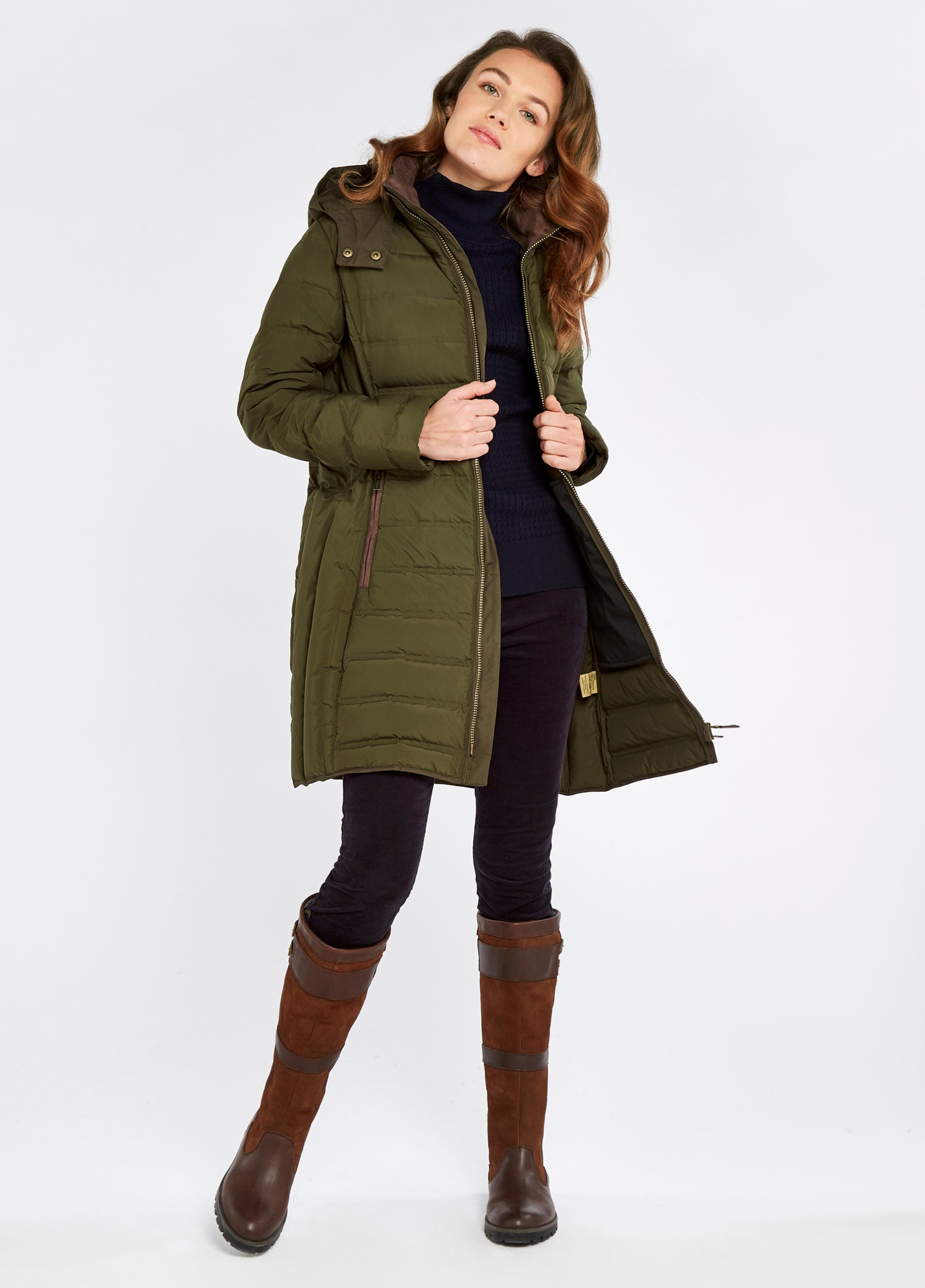 Ballybrophy Quilted Jacket - Olive