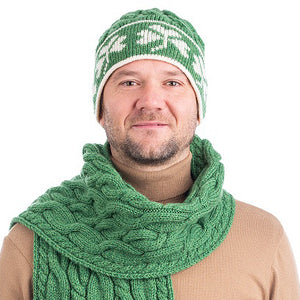 Shamrock merino wool hat
