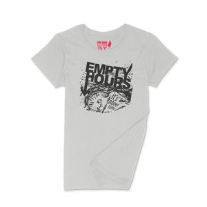 Empty Hours It's About Time album cover Ladies Crew (Round) Neck Shirt Small Ash Grey/Black