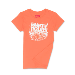 Empty Hours It's About Time album cover Ladies Crew (Round) Neck Shirt Small Orange/White
