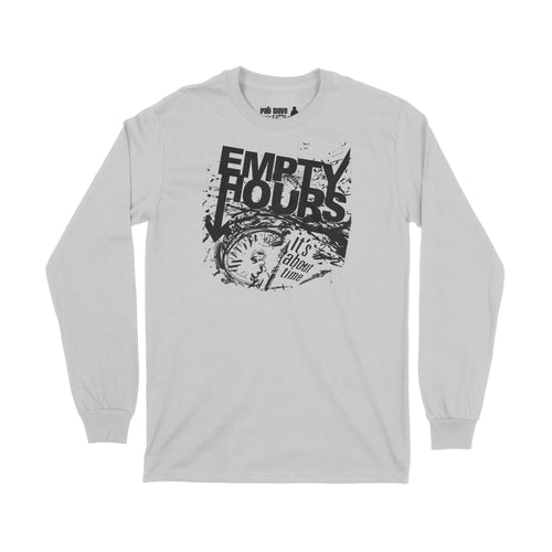 Empty Hours It's About Time album cover Long Sleeve T-Shirt Small Ash Grey/Black