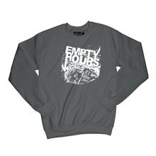 Load image into Gallery viewer, Empty Hours It's About Time album cover Sweatshirt Small Black/White