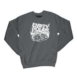 Empty Hours It's About Time album cover Sweatshirt Small Black/White