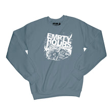 Load image into Gallery viewer, Empty Hours It's About Time album cover Sweatshirt Small Dark Heather/White