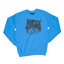 Load image into Gallery viewer, Empty Hours It's About Time album cover Sweatshirt Small Heather Royal Blue/Black
