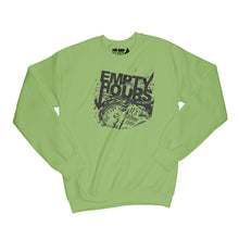 Load image into Gallery viewer, Empty Hours It's About Time album cover Sweatshirt Small Kiwi/Black