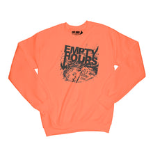 Load image into Gallery viewer, Empty Hours It's About Time album cover Sweatshirt Small Orange/Black