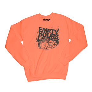 Empty Hours It's About Time album cover Sweatshirt Small Orange/Black