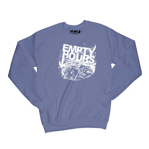 Empty Hours It's About Time album cover Sweatshirt Small Purple/White