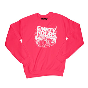 Empty Hours It's About Time album cover Sweatshirt Small Red/White
