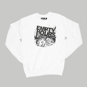 Empty Hours It's About Time album cover Sweatshirt Small White/Black