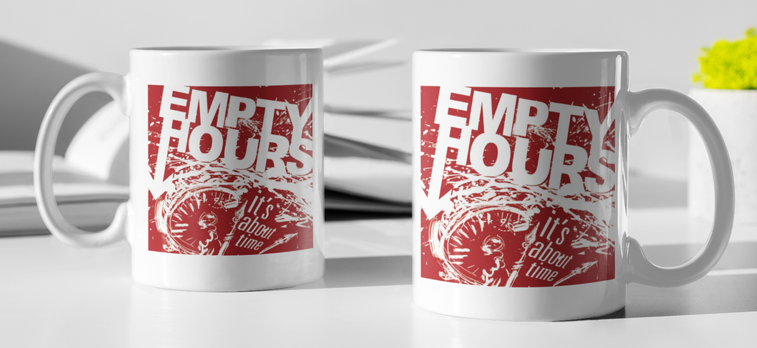 Empty Hours It's About Time album cover Coffee Mug