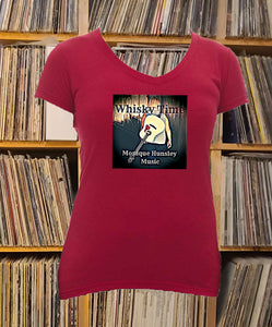 Monique Hunsley Whisky Time Ladies V-Neck Shirt