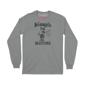 McGonagalls Pub Logo Long Sleeve T-Shirt Small Graphite Heather/Black
