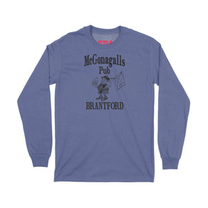 McGonagalls Pub Logo Long Sleeve T-Shirt Small Purple/Black