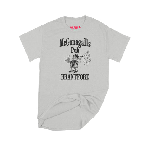 McGonagalls Pub Logo T-Shirt Small Ash Grey/Black